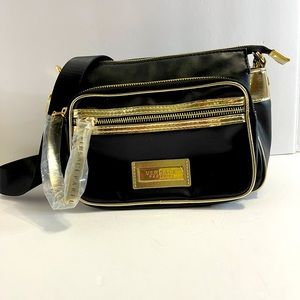 Versace Parfums small crossbody black and gold